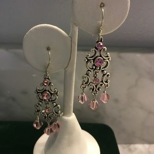 Swarovski Chandelier Earrings Light Pink